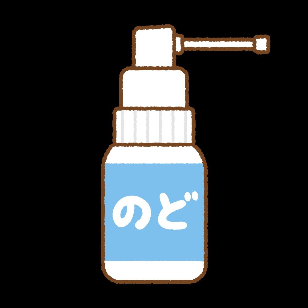 のどの殺菌スプレーのフリーイラスト Clip art of throat-spray