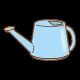 ジョウロのフリーイラスト Clip art of watering-can