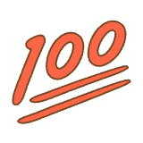 100点のフリーイラスト Clip art of 100-ten