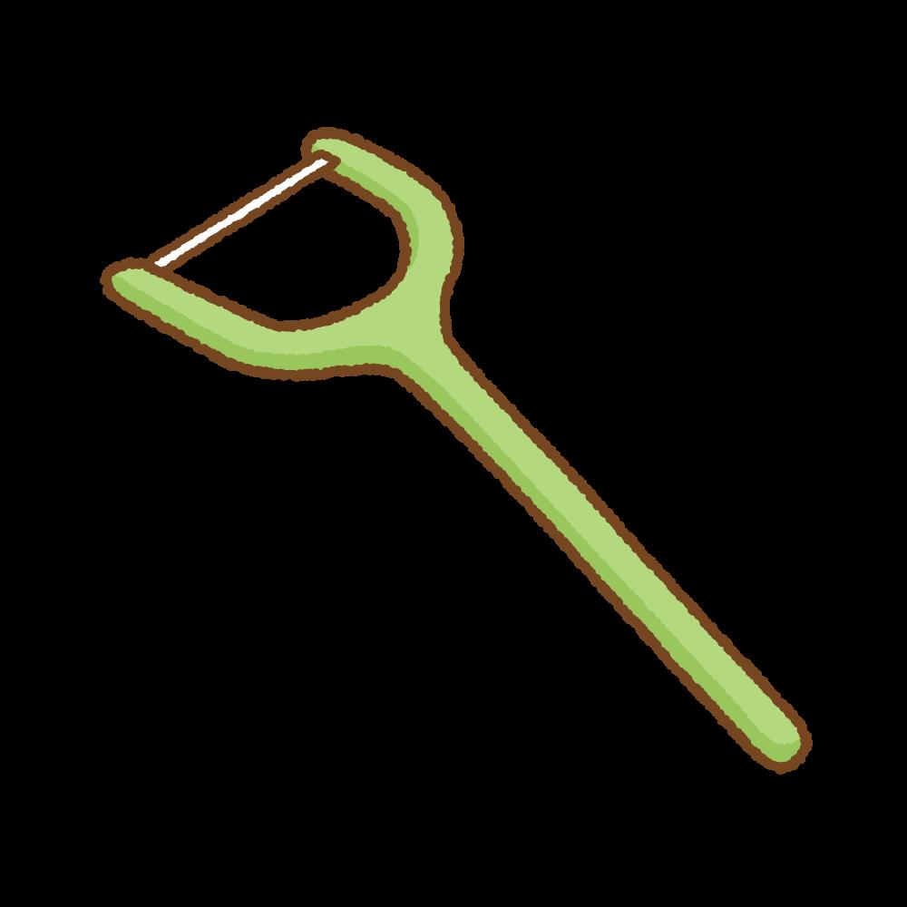 デンタルフロスのフリーイラスト Clip art of dental-floss