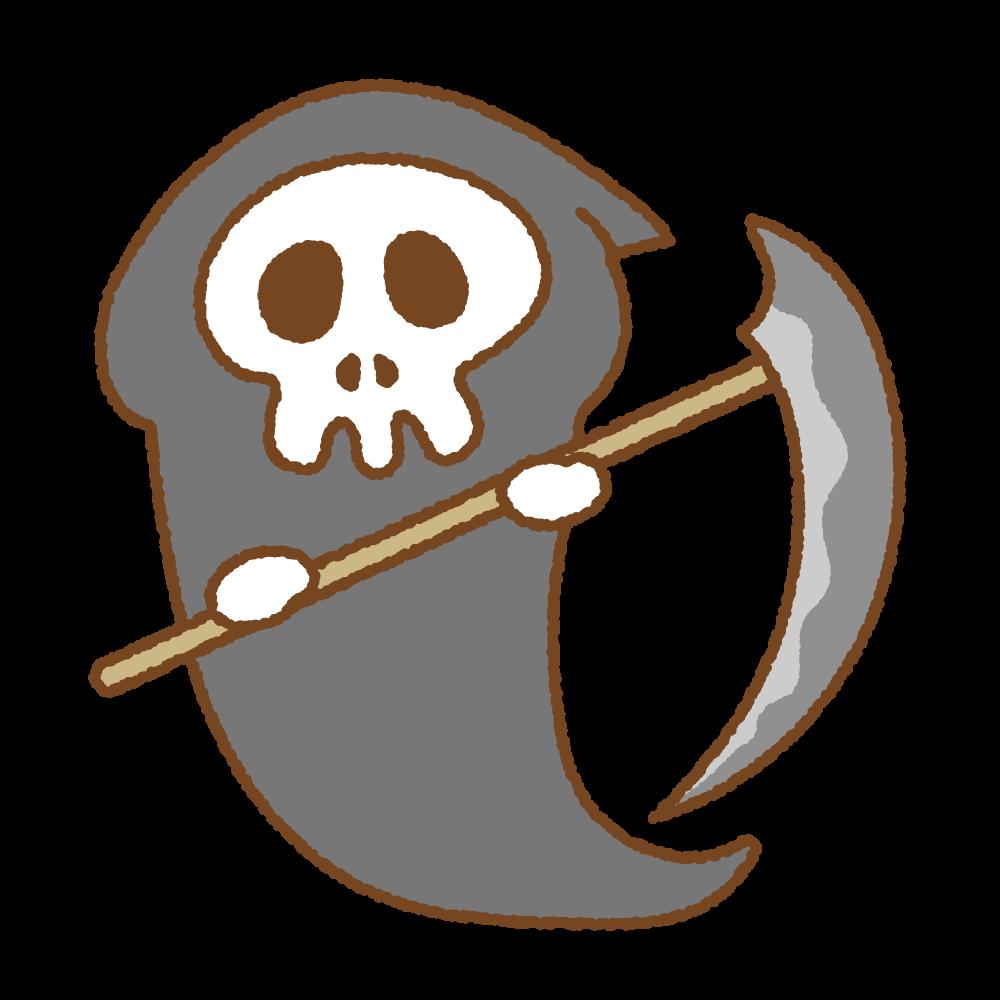 死神のフリーイラスト Clip art of grim-reaper