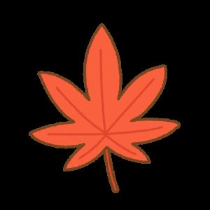 モミジの紅葉のフリーイラスト Clip art of momiji