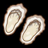 牡蠣のフリーイラスト Clip art of oyster
