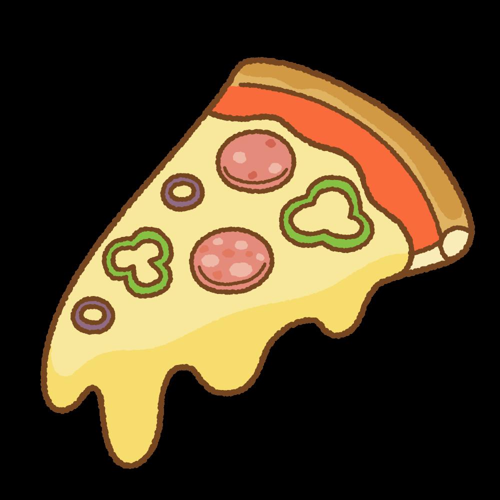 ピザ1切れのフリーイラスト Clip art of pizza