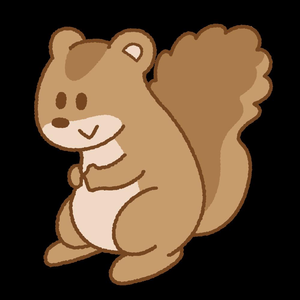 リスのフリーイラスト Clip art of squirrel
