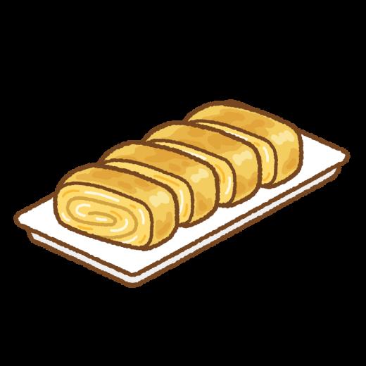 卵焼きのイラスト