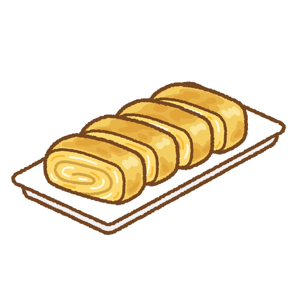卵焼きのフリーイラスト Clip art of tamagoyaki