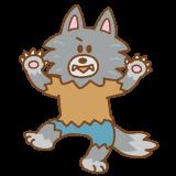 オオカミ男のフリーイラスト Clip art of werewolf