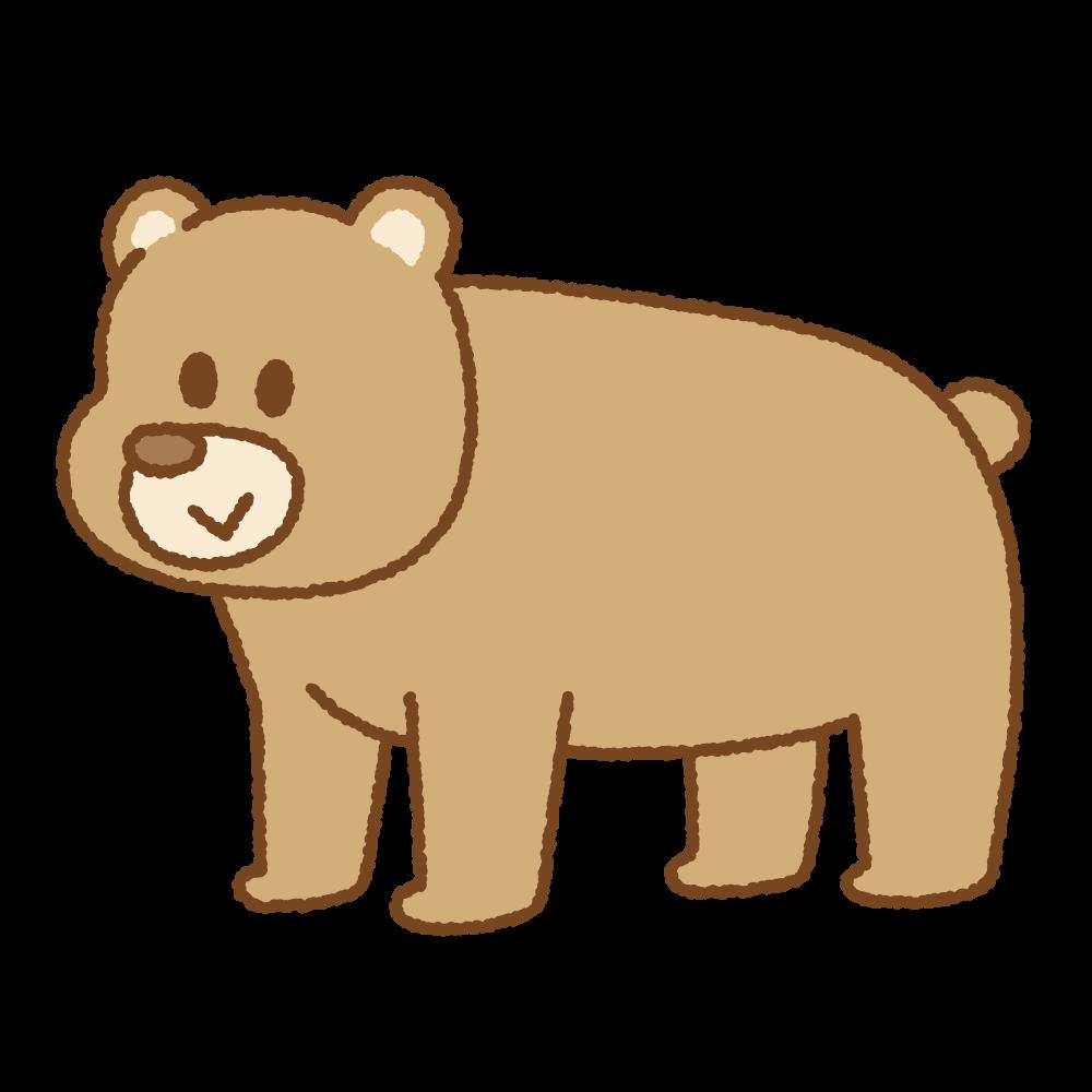 クマのフリーイラスト Clip art of bear