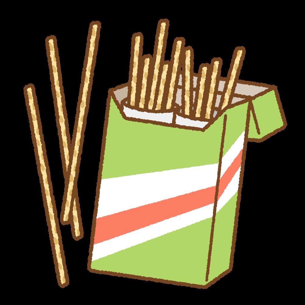 プレッツェルティックのフリーイラスト Clip art of brezel-sticks