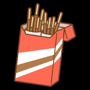 チョコスティックのフリーイラスト Clip art of chocolate coated biscuit sticks