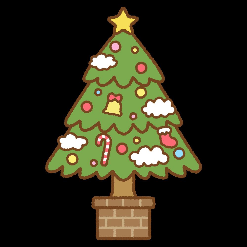 クリスマスツリーのフリーイラスト Clip art of christmas-tree