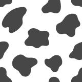 ウシ柄のパターンのイラスト