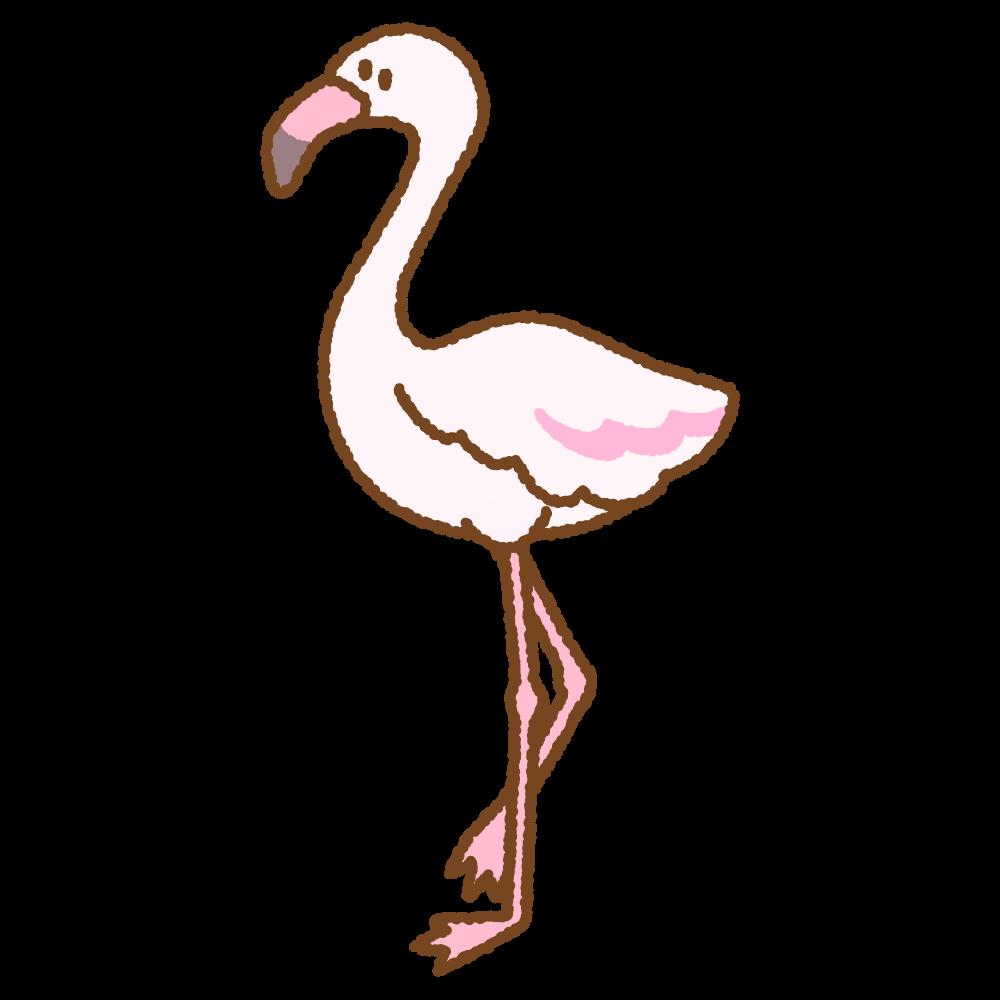 フラミンゴのフリーイラスト Clip art of flamingo