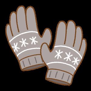 手袋のフリーイラスト Clip art of gloves