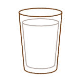 コップに入った牛乳のイラスト