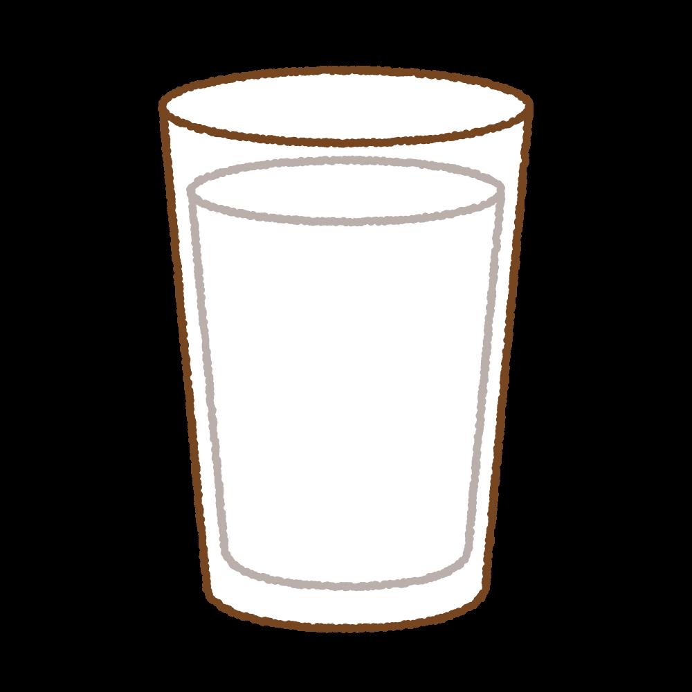 コップに入った牛乳のイラスト Clip art of milk glass-cup