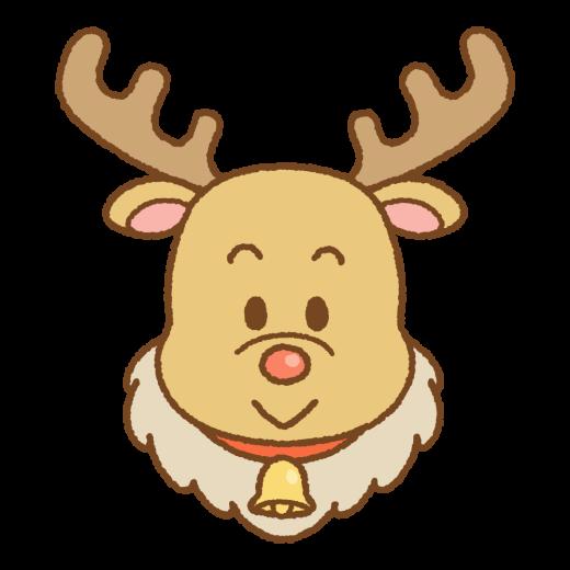 クリスマスのトナカイのイラスト