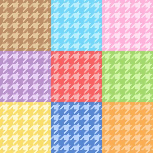 千鳥格子のパターンのイラスト