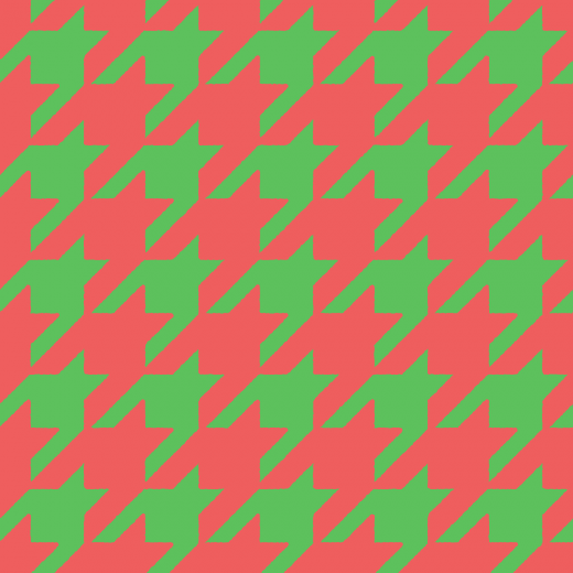 クリスマスカラーの千鳥格子のパターンのイラスト