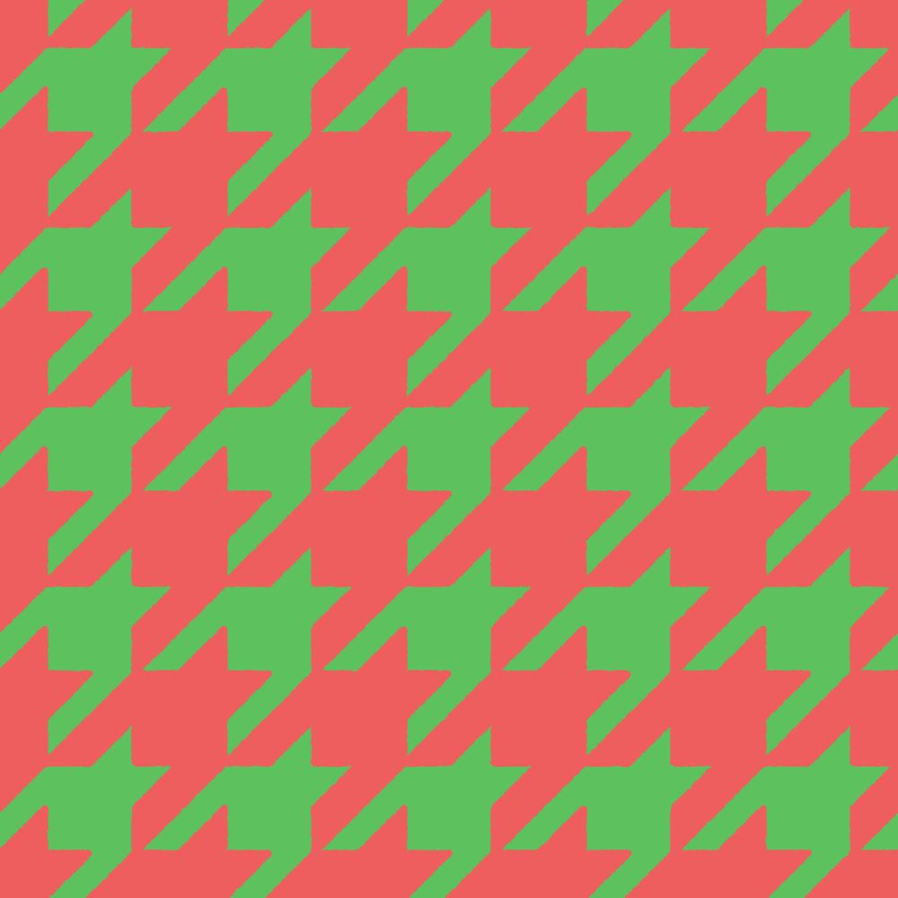 クリスマスカラーの千鳥格子のパターンのフリーイラスト Clip art of chidori-goushi pattern