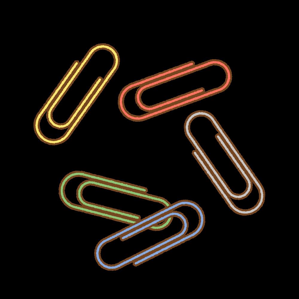 ゼムクリップのフリーイラスト Clip art of gem-clip