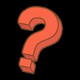 立体的なはてなのフリーイラスト Clip art of question mark