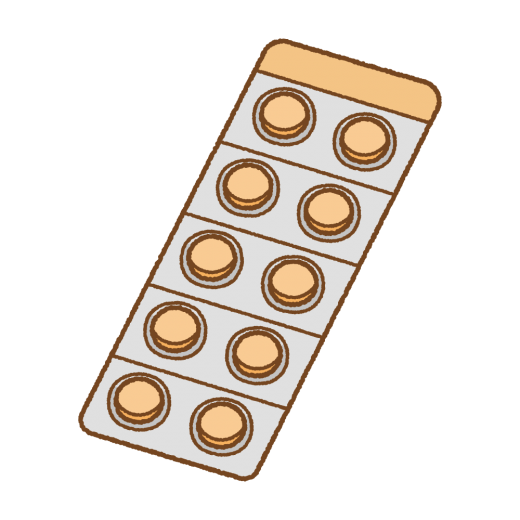 錠剤のシートのイラスト