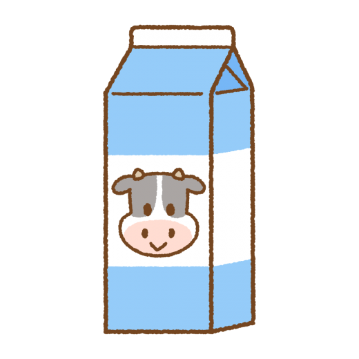 パック牛乳のイラスト