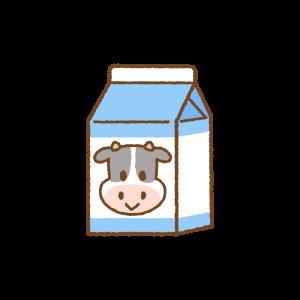 パック牛乳のフリーイラスト Clip art of milk