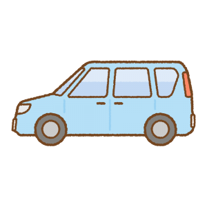 ミニバンのフリーイラスト Clip art of minivan
