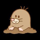 モグラのフリーイラスト Clip art of mole