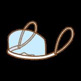 マウスシールドのイラスト