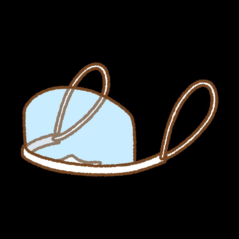 マウスシールドのフリーイラスト Clip art of mouth-shield