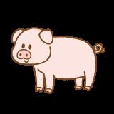 ブタのフリーイラスト Clip art of pig