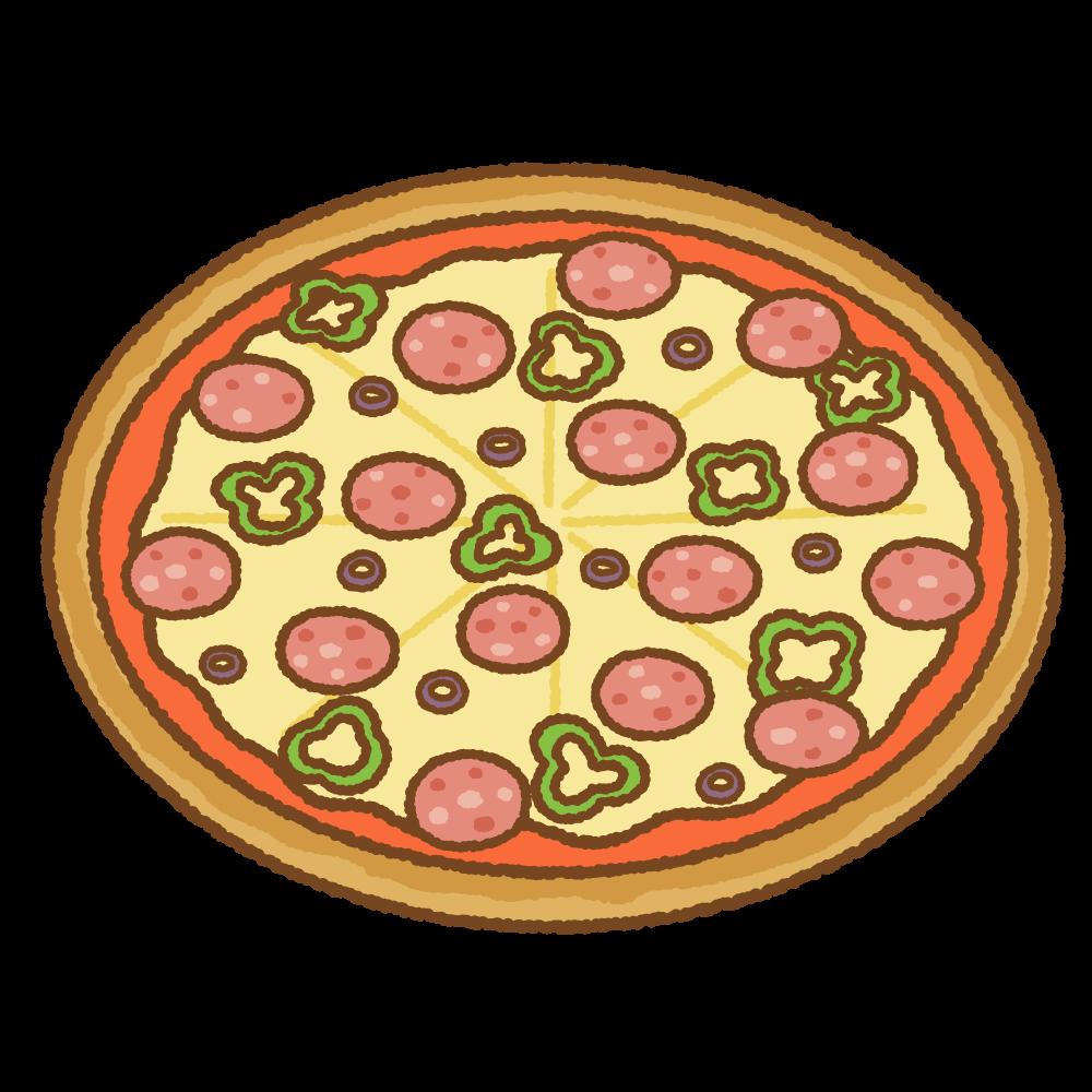 ピザのフリーイラスト Clip art of pizza