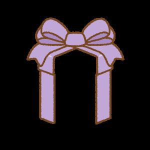 プレゼントボックスのリボンのフリーイラスト Clip art of presentbox-ribbon