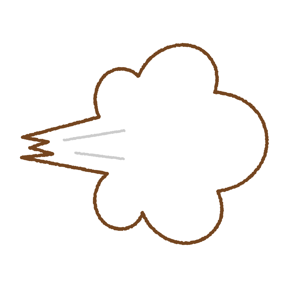 吹き出された空気のフリーイラスト Clip art of puff-of-air