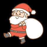 サンタクロースのフリーイラスト Clip art of santa-claus