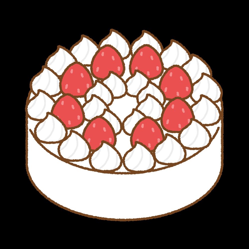 イチゴのショートケーキのフリーイラスト Clip art of strawberry shortcake