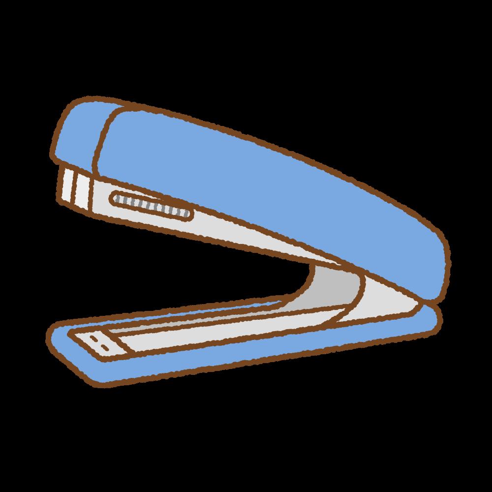 ホッチキスのフリーイラスト Clip art og stapler