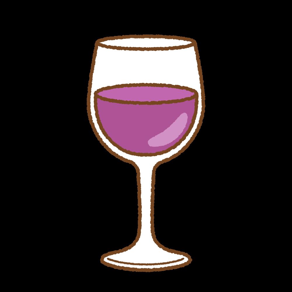 グラスワインのフリーイラスト Clip art of wine glass