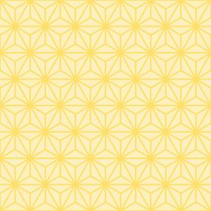 麻の葉文様のパターンのフリーイラスト Clip art of asanoha-monyou pattern