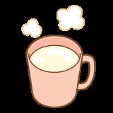 ホットミルクのフリーイラスト Clip art of hotmilk