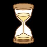 砂時計のフリーイラスト Clip art of hourglass
