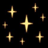 キラキラのフリーイラスト Clip art of sparkly