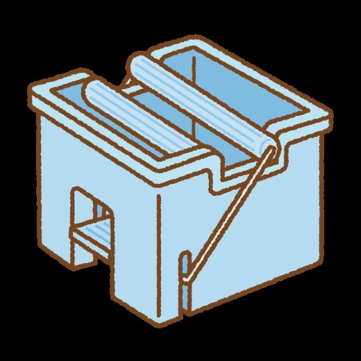 モップ絞り器のイラスト