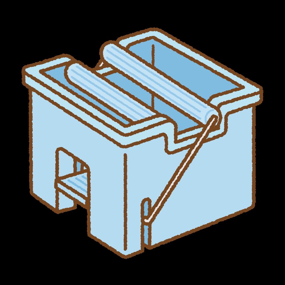 モップ絞り器のフリーイラスト Clip art of mop squeezer