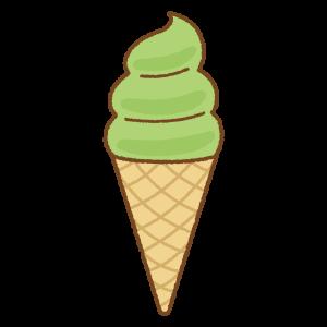 ソフトクリームのフリーイラスト Clip art of soft-serve