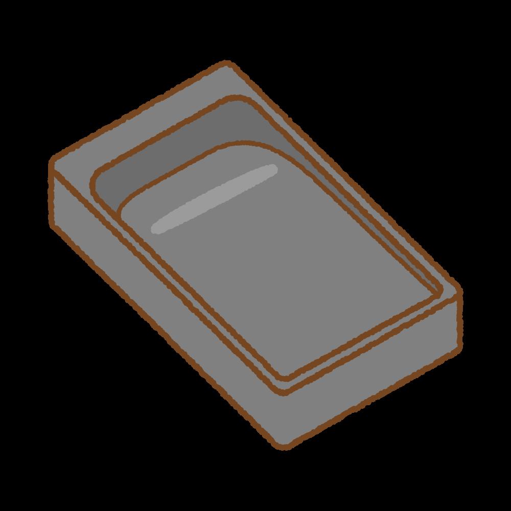 硯のフリーイラスト Clip art of inkstone